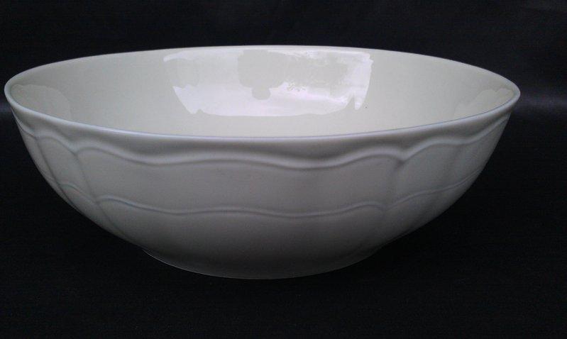 Saladier 23 cm mod le chambord porcelaine blanche d class e - Saladier porcelaine blanche ...