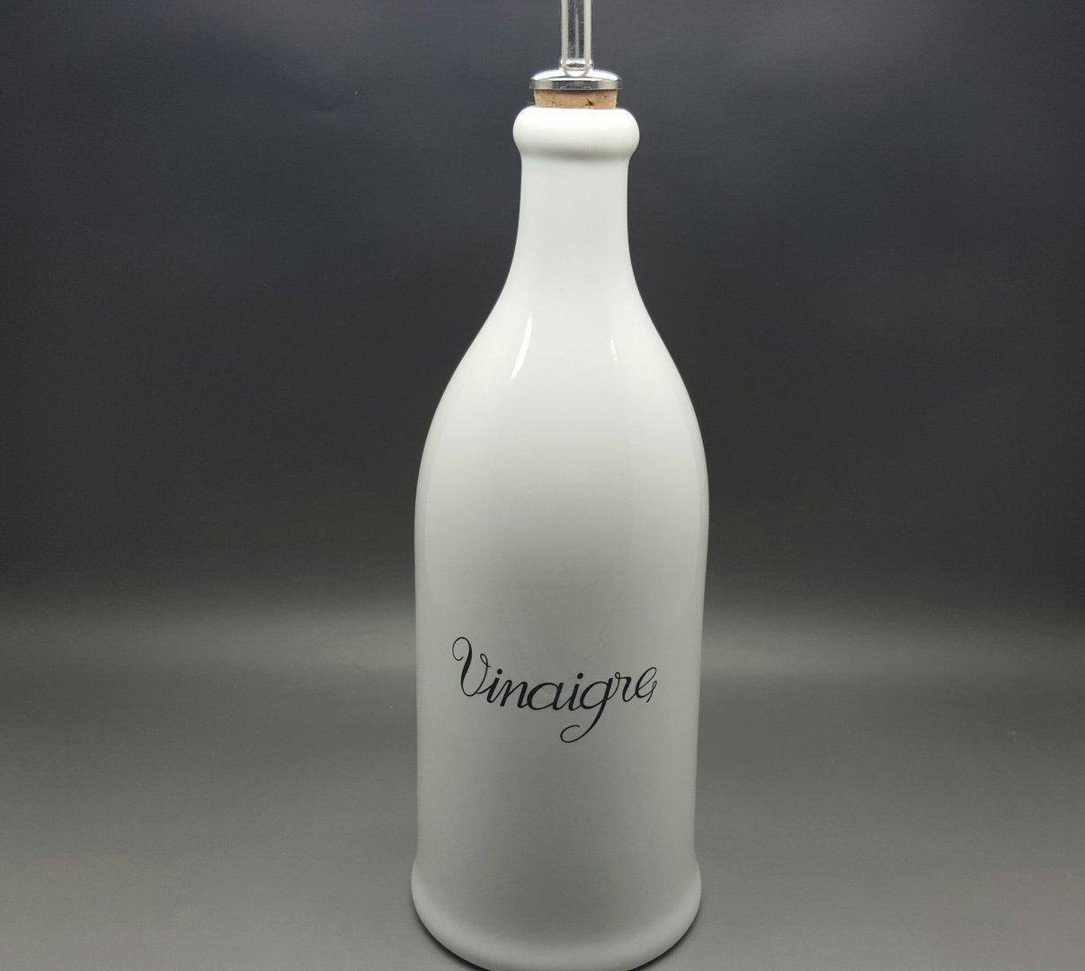 bouteille vinaigre 75cl la boutique de porcelaine blanche d class e. Black Bedroom Furniture Sets. Home Design Ideas