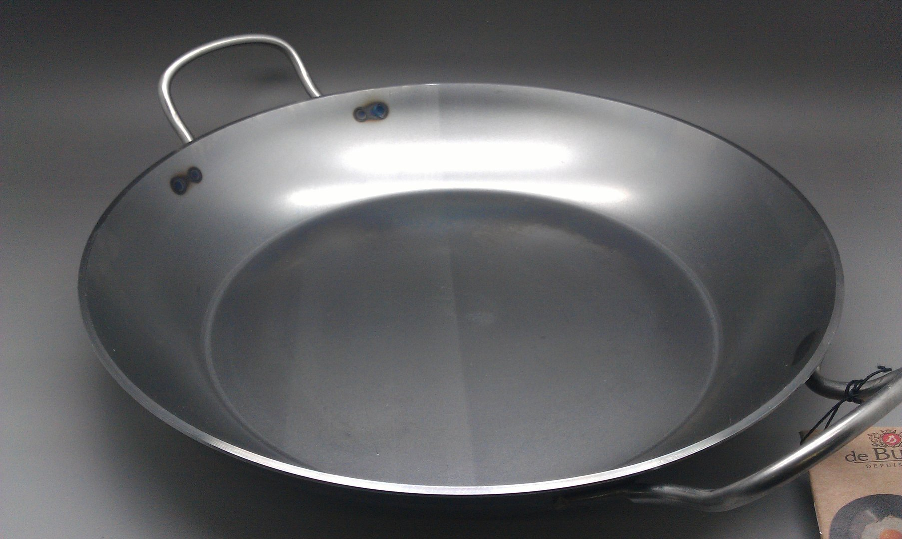 Poelon 2 anses inox 36cm DE BUYER